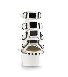 Plateau Boots ASHES-70 Weiß Matt