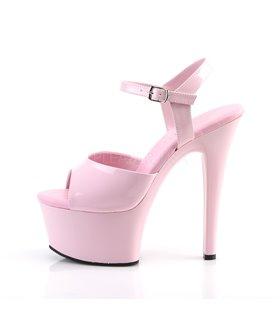Plateau High Heels ASPIRE-609 - Lack Baby Pink