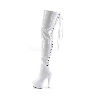 Overknee Stiefel DELIGHT-3063 - Lack Weiß