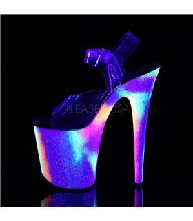 Plateau High Heels FLAMINGO-808GXY - Neon Mehrfarbig