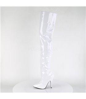 Overknee Stiefel SEDUCE-3010 - Lack Weiß