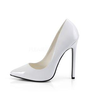 Stiletto High Heels SEXY-20 - Lack Weiß