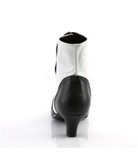 Stiefeletten FLORA-1023 - Schwarz/Weiß