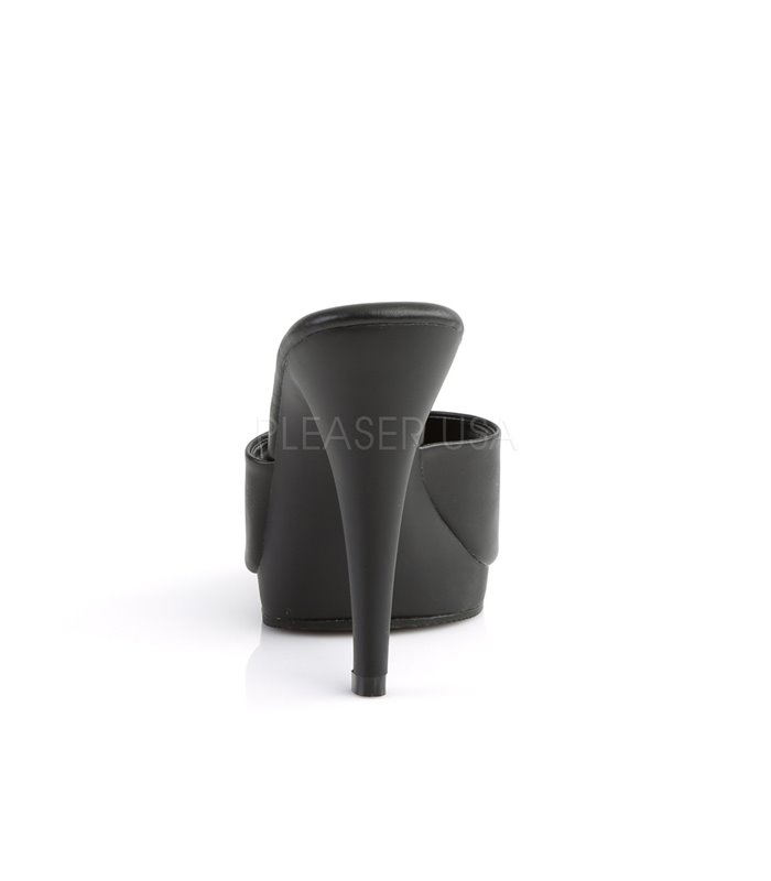Pantolette FLAIR-401-2 - PU Schwarz