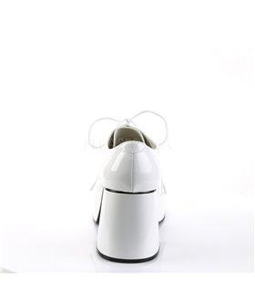 Herren Plateauschuhe JAZZ-02 - Lack Weiß
