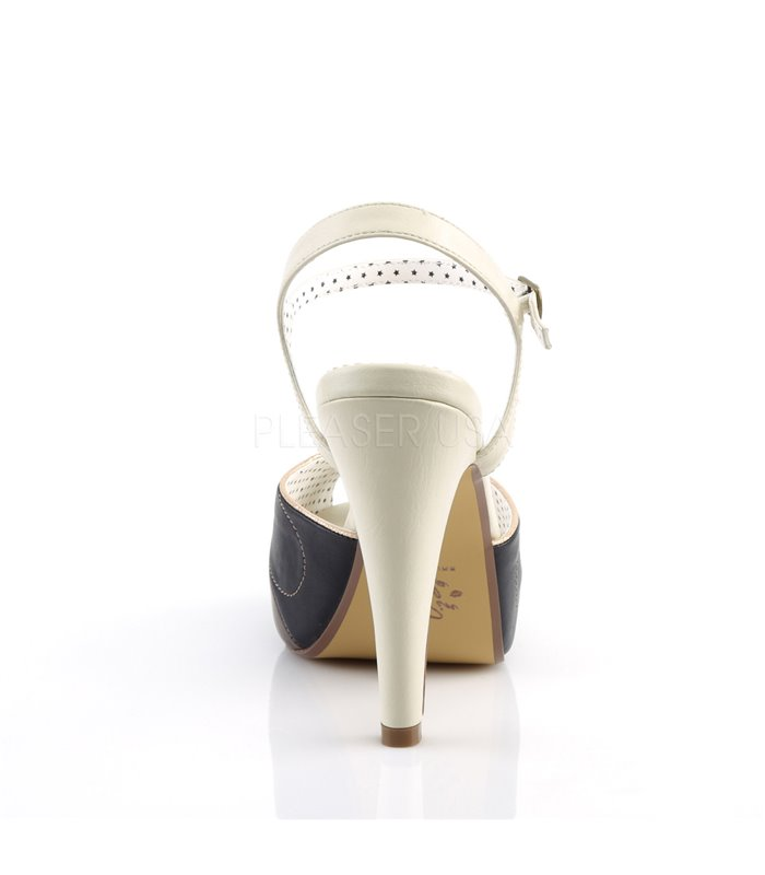 Retro Sandalette BETTIE-27 - Creme