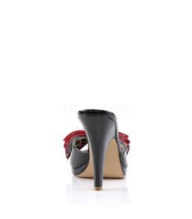 Pin Up Couture Pantoletten SIREN-06 Schwarz