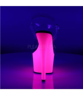 Plateau High Heels ADORE-708UV - Neon Pink