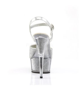 Plateau High Heels DELIGHT-609-5G - Silber