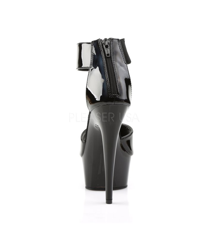 Plateau High Heels DELIGHT-670-3 - Schwarz