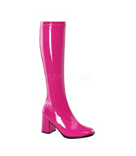 Retro Stiefel GOGO-300 - Lack Hot Pink