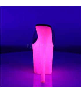 Extreme Plateau Heels FLAMINGO-801UVG - Neon Pink