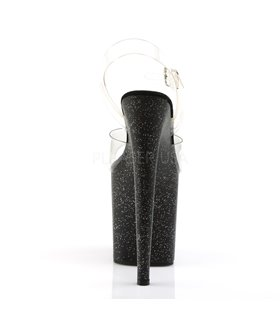 Extrem High Heels FLAMINGO-808MG - Glitter