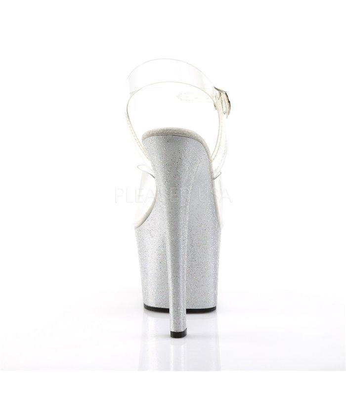 Stiletto High Heels SKY-308MG - Silber