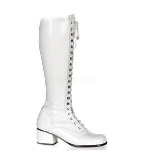 Retro Stiefel RETRO-302 - Lack Weiß