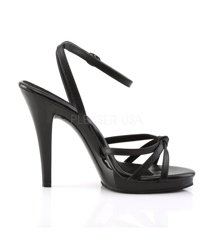 Sandalette FLAIR-436 - Leder Schwarz