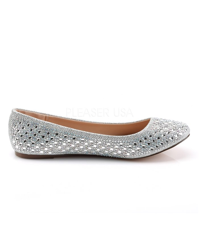 Fabulicious Ballerinas TREAT-06 Silber