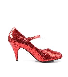 Mary Janes GLINDA-50G - Glitter Rot