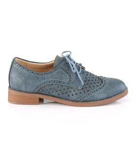 Pin Up Couture Herren Halbschuhe HEPBURN-26 blau