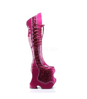 Pleaser Plateau Stiefel FABULOUS-3035 Pink