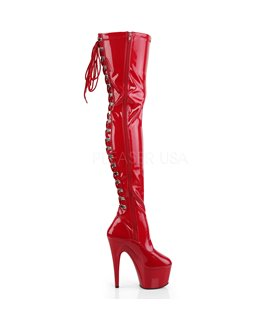 Plateau Overknee Stiefel ADORE-3063 - Rot