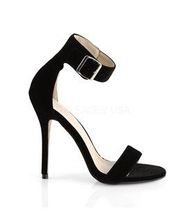 Sandalette AMUSE-10 - Samt Schwarz