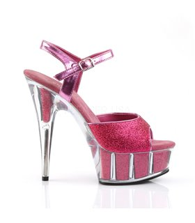 Plateau High Heels DELIGHT-609-5G - Hot Pink