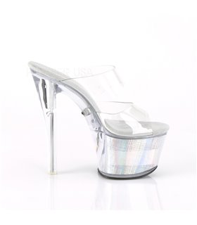 Plateau Pantolette FLASHDANCE-702CH - LED Transparent