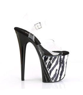 Extrem Plateau Heels FLAMINGO-808HP-2 - Hologramm Zebra