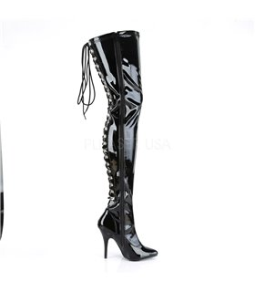 Overknee Stiefel SEDUCE-3063 - Lack Schwarz