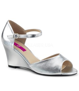 Wedges KIMBERLY-05 - PU Silber Metallic