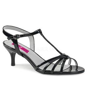 Pleaser Sandaletten KITTEN-06 Schwarz