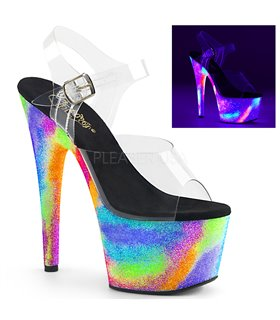 Plateau High Heels ADORE-708GXY - Neon Mehrfarbig
