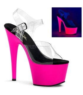 Plateau High Heels ADORE-708UV - Neon Pink