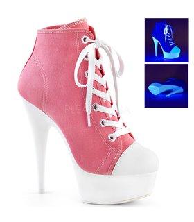 Canvas High Heel Sneakers DELIGHT-600SK-02 - Rosa