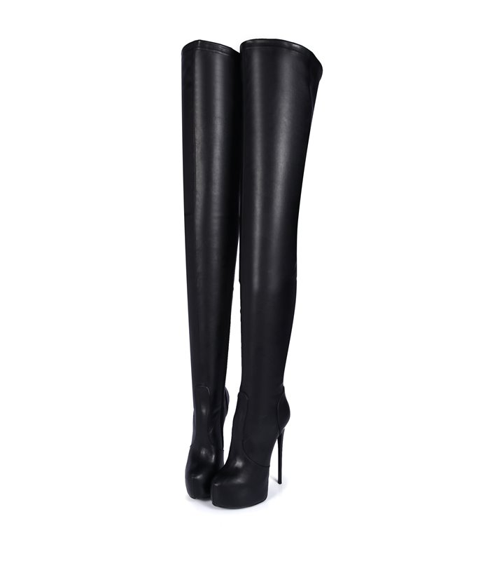 Giaro Galana 1004  luxus Plateau Overknee Stiefel in in schwarz