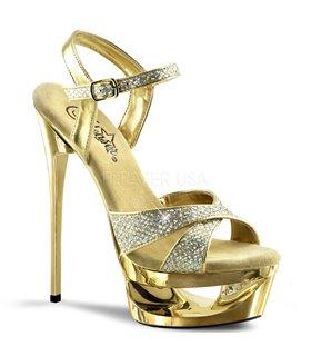 Plateau Sandalette ECLIPSE-619G - Gold/Gold Glitter