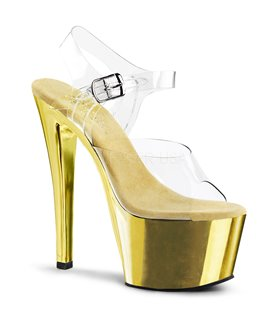 Plateau High Heels SKY-308 - Gold Chrom
