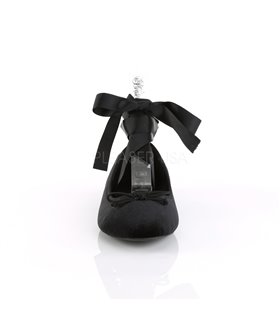 Demonia Ballerinas DRAC-03 Schwarz