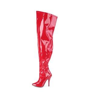 Overknee Stiefel SEDUCE-3000WC (Weitschaftstiefel) - Lack Rot