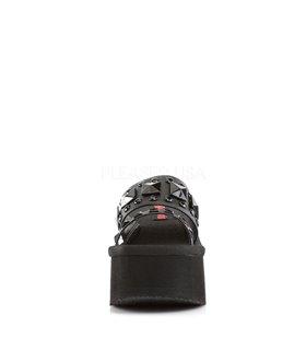 Demonia Sandaletten FUNN-18 Schwarz