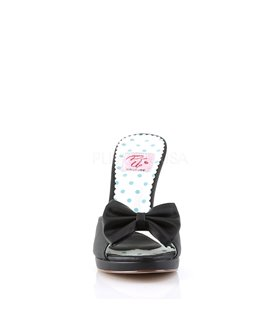 Pin Up Couture Pantoletten SIREN-03 Schwarz