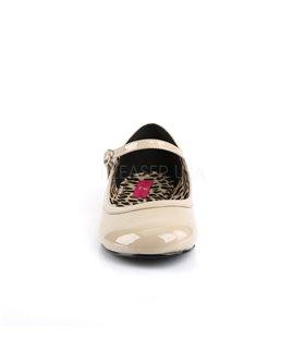 Pleaser Ballerinas Pleaser Pink Label ANNA-02 gold