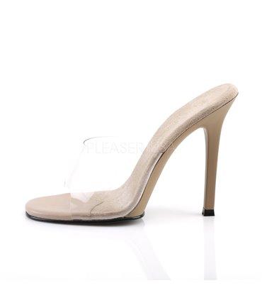 PIN UP COUTURE Smitten-10 Sexy T-Strap High Heel Pumps Weiß