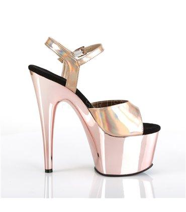 Fabulicious TREAT-06 Sexy und edle High-Heels Silber