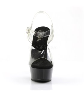 Plateau High Heels DELIGHT-608 - Schwarz