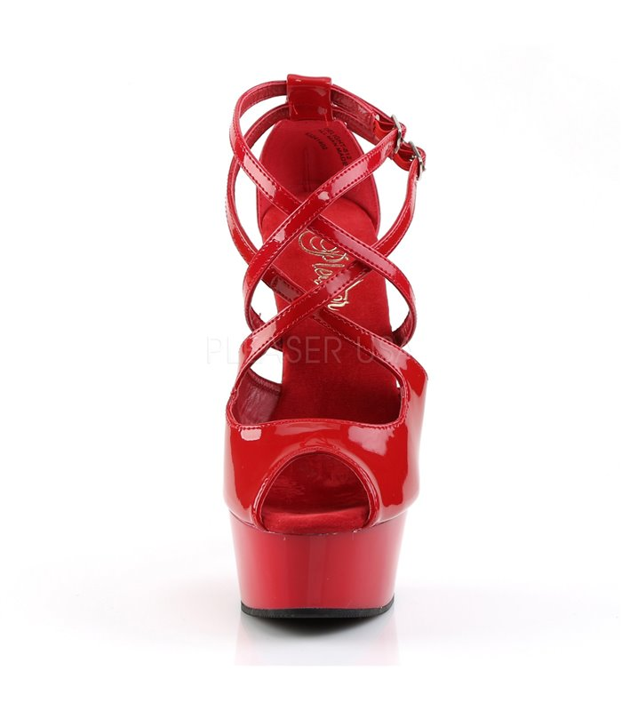 Plateau D'Orsay Peeptoes DELIGHT-612 - Rot