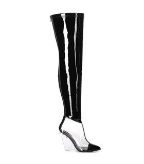 Giaro Overknee Stiefel Fascinate schwarz lack