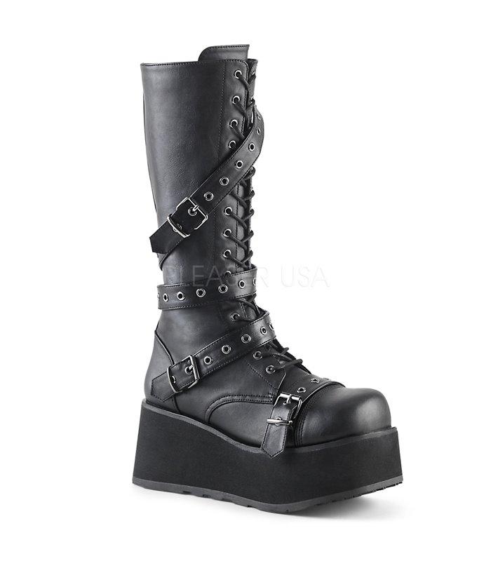 Demonia Plateau Stiefel TRASHVILLE-520 schwarz