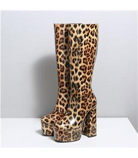 Ellie Tailor Emmy leo shiny mehrfarbig Knee Boots Damen Herren Übergröße